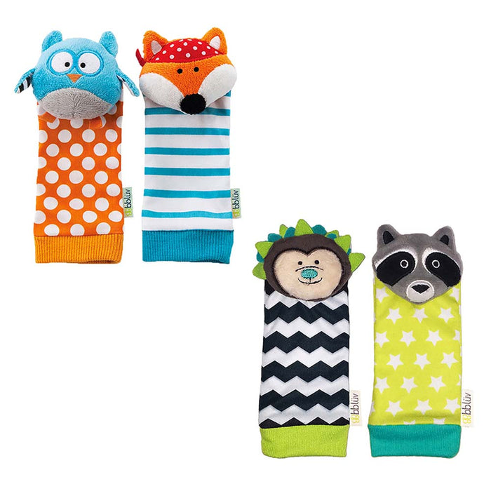 bblüv- Foot Finders – Owl & Fox / Hedgehog & Racoon