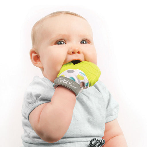 bblüv - Glüv - Baby Teething Mitten | Lime