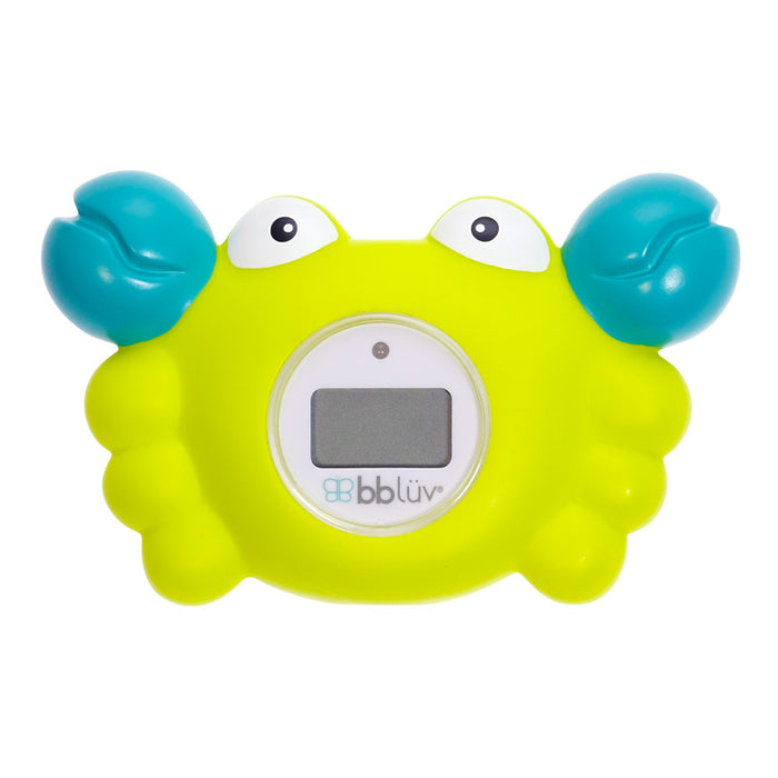 bblüv - Kräb | 3-in-1 Thermometer & Bath Toy in 2 Temperature Mood | Yellow