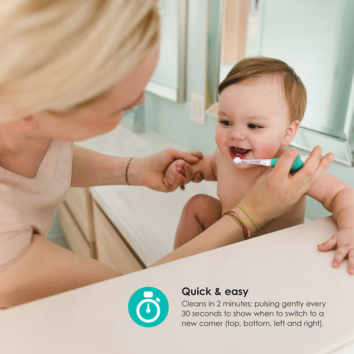 bblüv Sönik - 2-Stage Sonic Battery-Powered, Soft Toothbrush for Babies & Toddlers