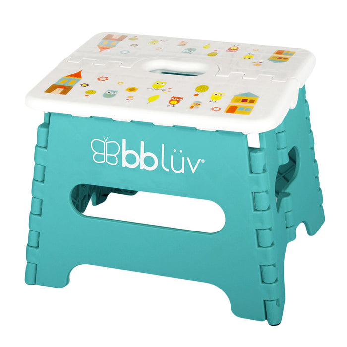 bblüv Stëp - Folding Step Stool Stable & Safe Aqua