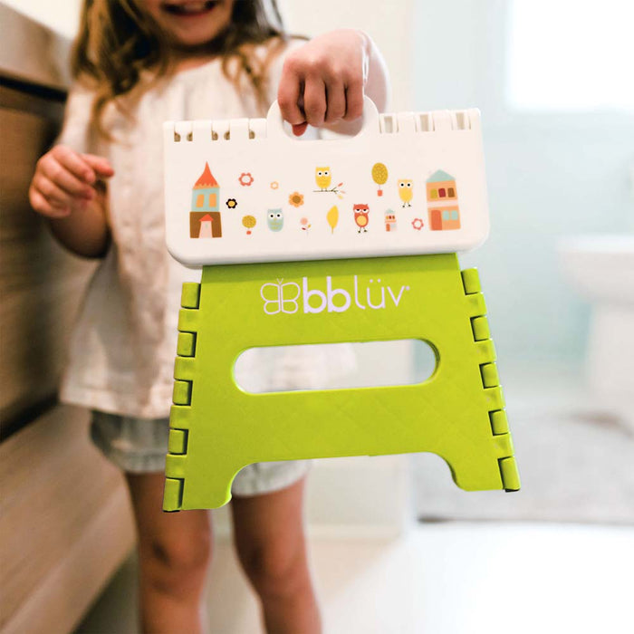 bblüv Stëp - Folding Step Stool Stable & Safe lime