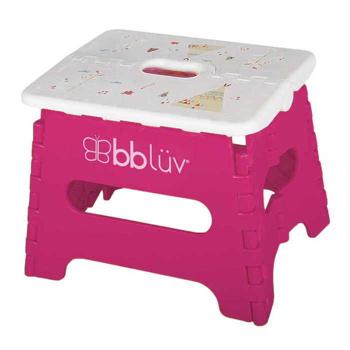 bblüv Stëp - Folding Step Stool Stable & Safe Pink