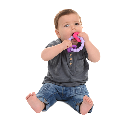 CB GO BY CHEWBEADS BABY 100%  SOFT SILICONE CENTRAL PARK TEETHER
