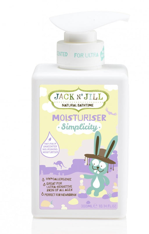 Jack N' Jill Simplicity Moisturiser, Natural Bath Time 300ML