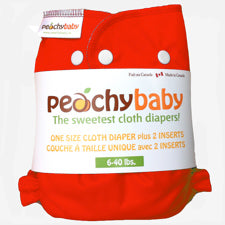 Peachy Baby One Size Diaper Tangerine