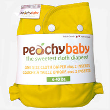 Peachy Baby One Size Diaper Cover Lemon