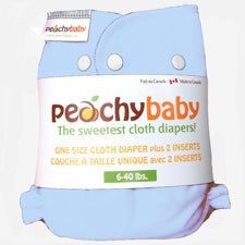 Peachy Baby One Size Diaper  Baby Blue