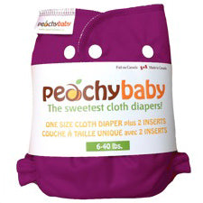 Peachy Baby One Size Diaper  Plum Berry