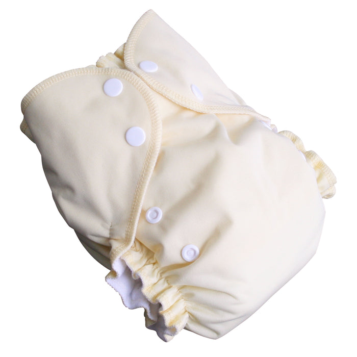 AMP Diapers- one size Duo Pocket Super Soft Diapers Banana Cream Pie