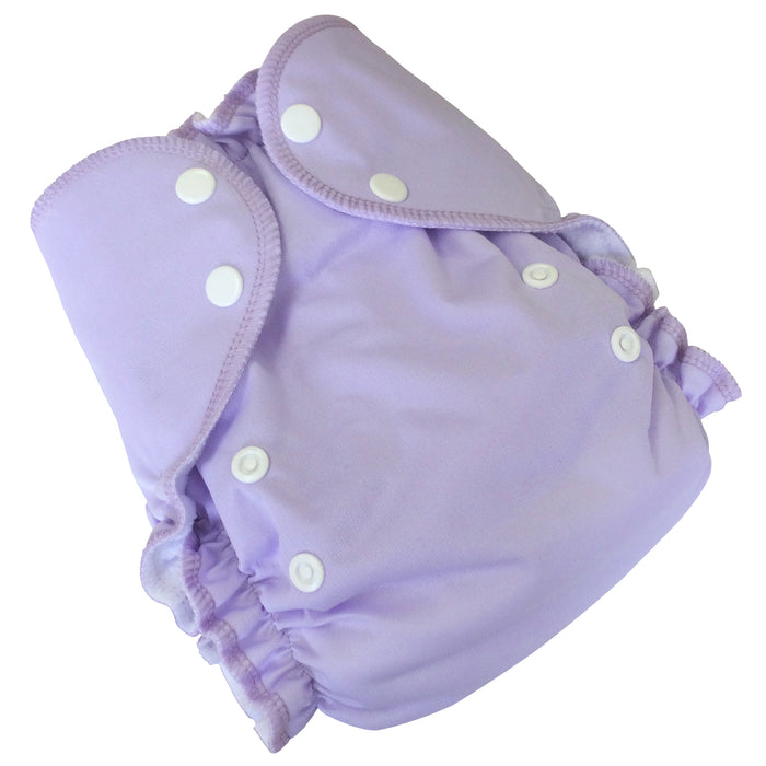 AMP Diapers- one size Duo Pocket Super Soft Diapers lavender