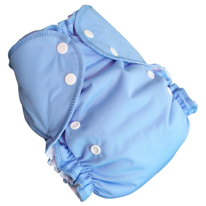 AMP Diapers- one size Duo Pocket Super Soft Diapers medium-blue