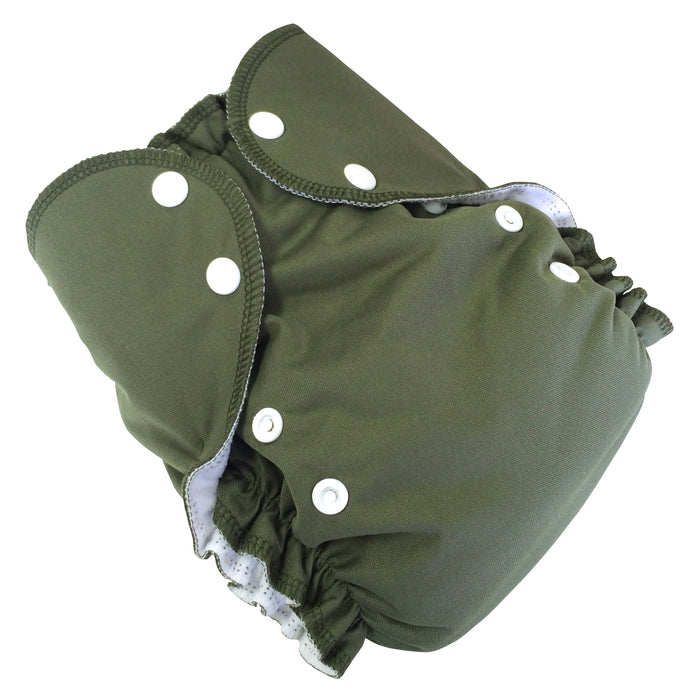 AMP Diapers- one size Duo Pocket Super Soft Diapers Olive
