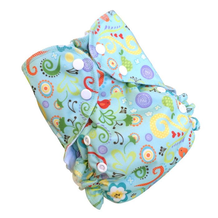 AMP Diapers-  ONE SIZED DUO PRINTS Melody