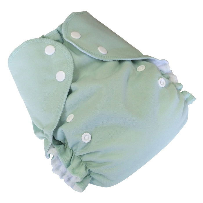 AMP Diapers- one size Duo Pocket Super Soft Diapers sage