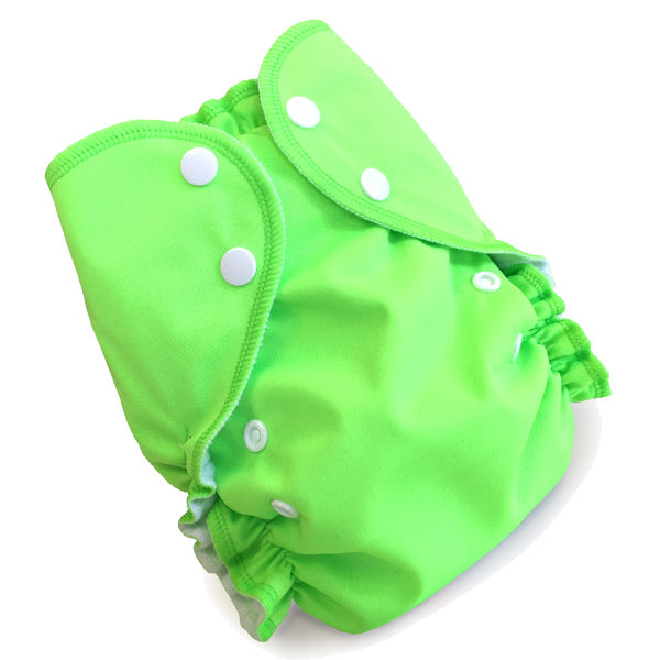 AMP Diapers- one size Duo Pocket Super Soft Diapers lime