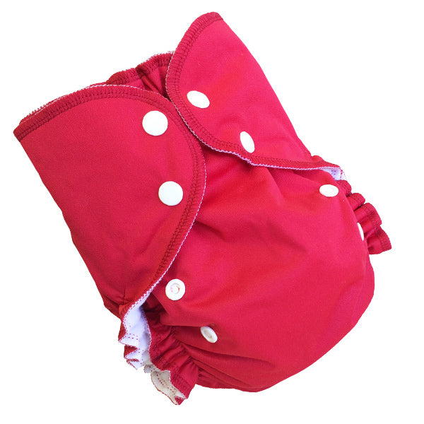 AMP Diapers- one size Duo Pocket Super Soft Diapers Pomegranate