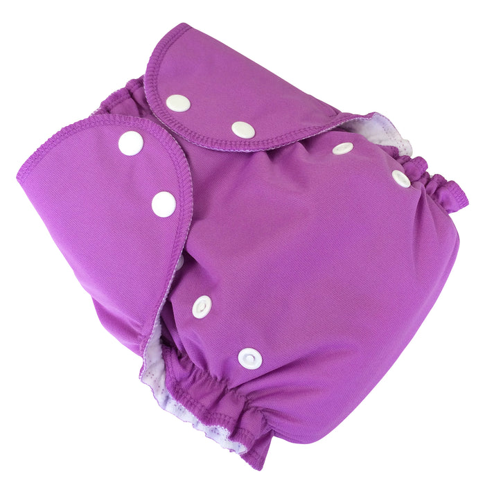 AMP Diapers- one size Duo Pocket Super Soft Diapers sugarplum