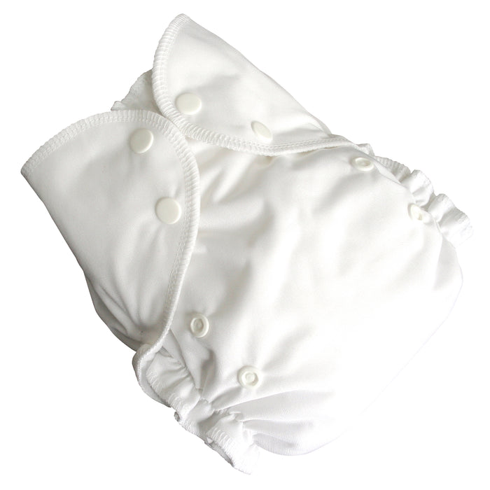 AMP Diapers- one size Duo Pocket Super Soft Diapers White
