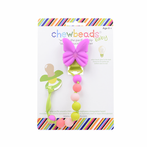 Chewbeads Wheres Pacifier Silicone Clip ,No BPA, No Phthalates Pink