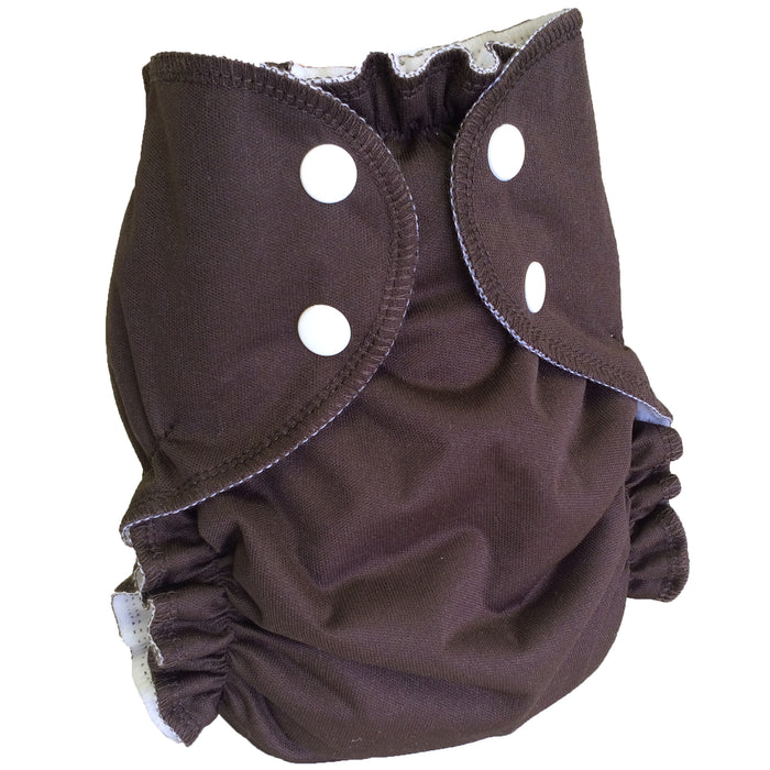 AMP Diapers- One Size Duo Bamboo SET CHOCOLATE