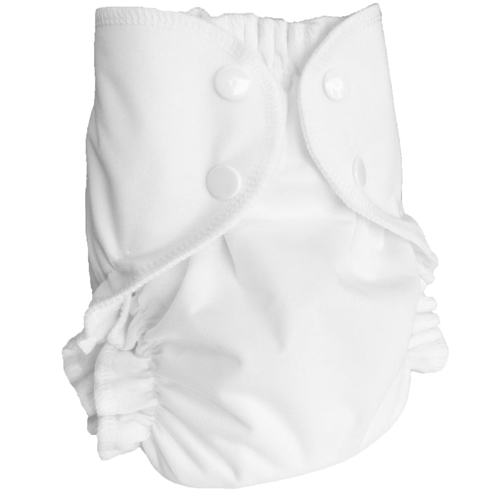 AMP Diapers- One Size Duo Bamboo SET White