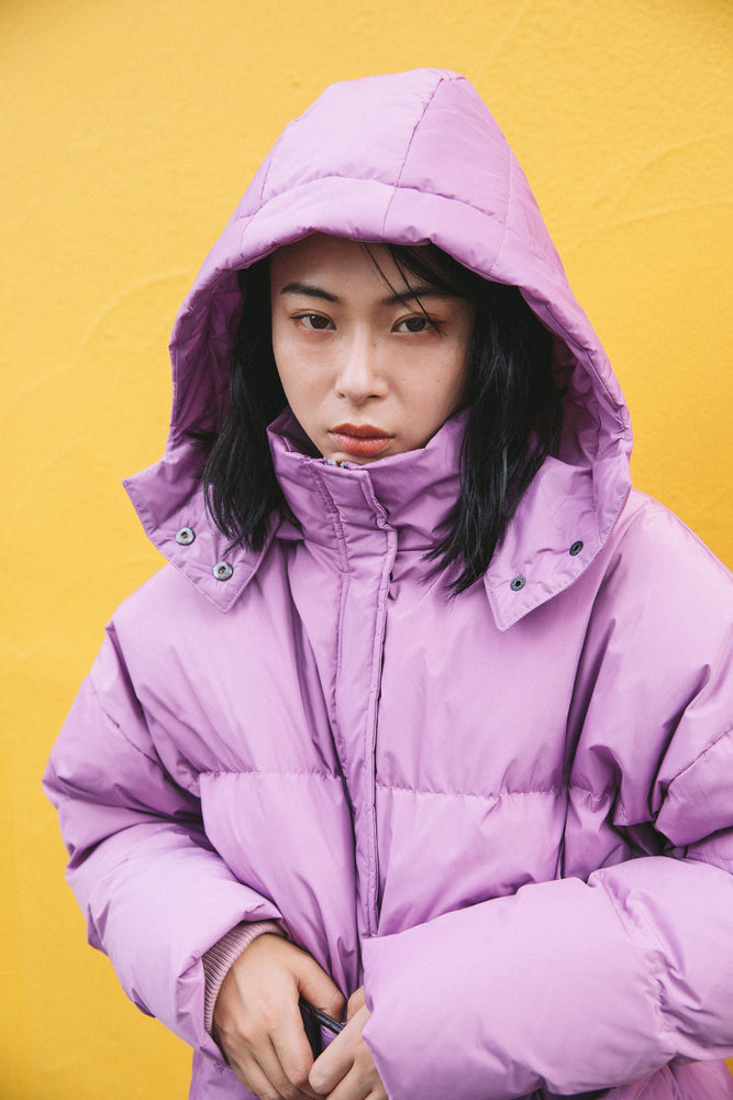 3WAY PUFFY JACKET / PURPLE