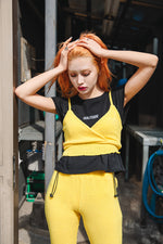 MELLOW RIB BUSTIER / YELLOW