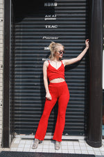 MELLOW RIB PANTS / RED
