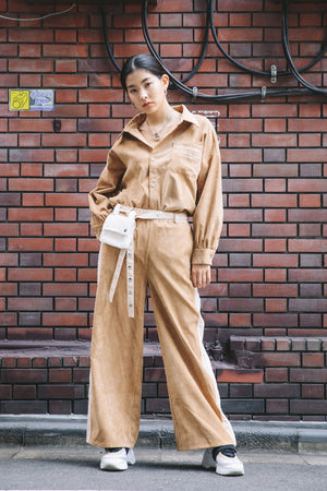 PLAYFUL CORDUROY PANTS / BEIGE