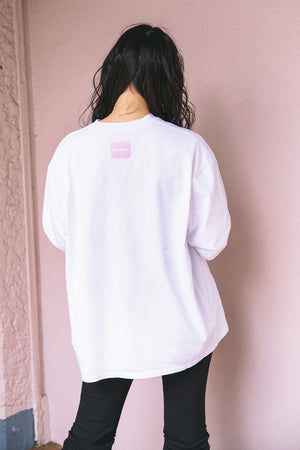 FLOWER PHOTO PRINT L/S TEE / WHITE