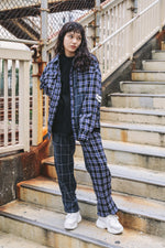GARDENER CHECK PANTS / BLUE