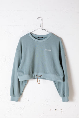 CROPED SWEAT TOP / MINT