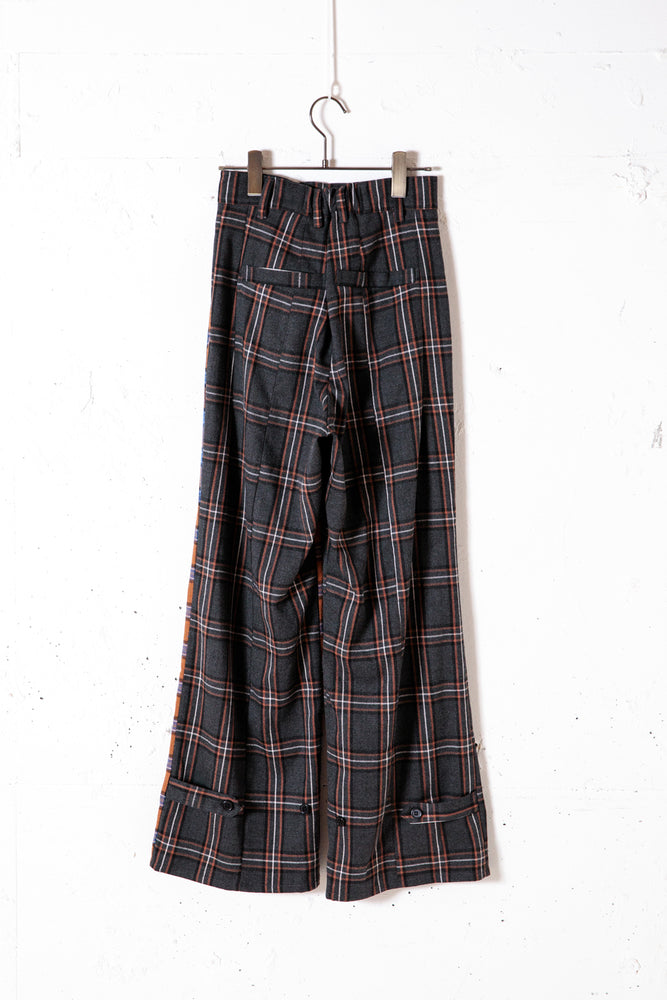 GARDENER CHECK PANTS / BROWN