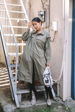 UTILITY SHIRT DRESS / KHAKI