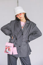 MULTI PATTERN JACKET / STRIPE