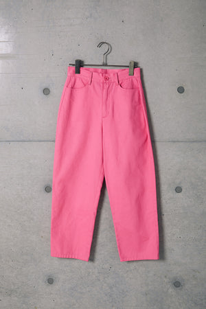 CROPPED COLOR CHINO / PINK