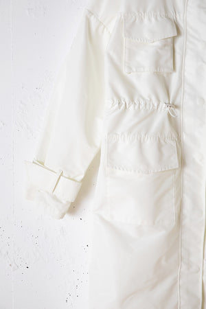 【CLIMATE MATE】NYLON HOODED JACKET / WHITE