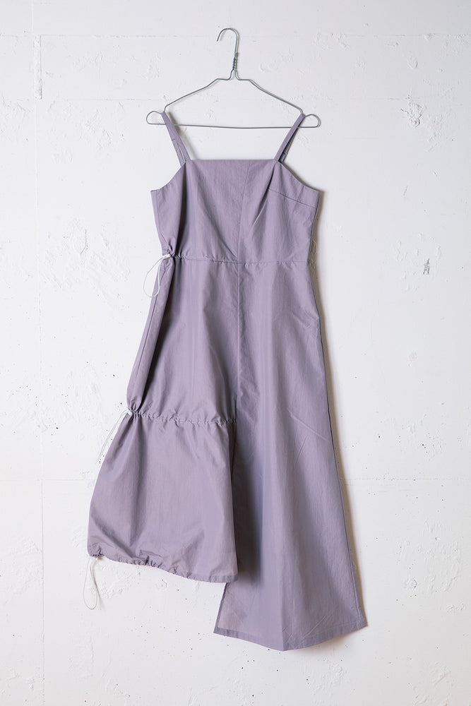 DRAWSTRINGS DRESS / PURPLE