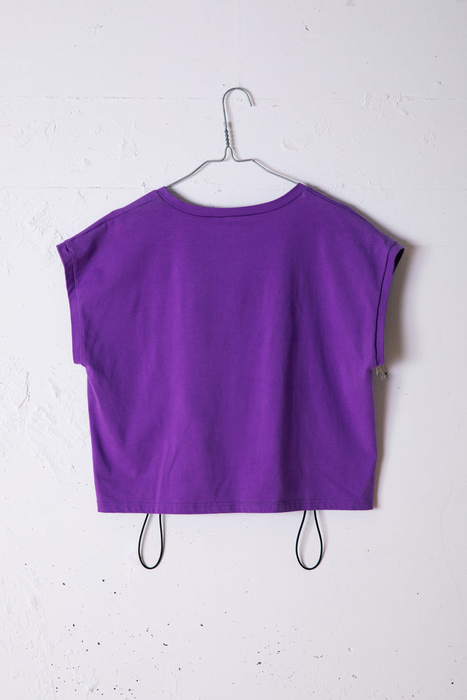 SOLITUDE CROPED TEE / PURPLE
