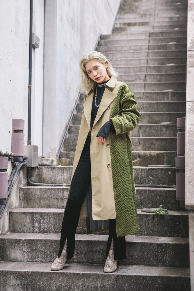 SWITCHING TRENCH COAT / KHAKI