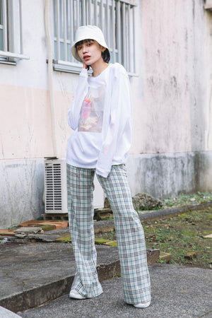MILKSHAKE PHOTO PRINT L/S TEE / WHITE