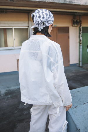 WRINKLE NYLON JACKET / WHITE