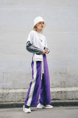 PLAYFUL CORDUROY PANTS / PURPLE