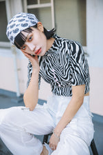 ANIMAL LOGO FRONT TOP / ZEBRA