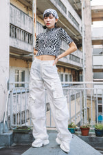 UTILITY NYLON PANTS / WHITE