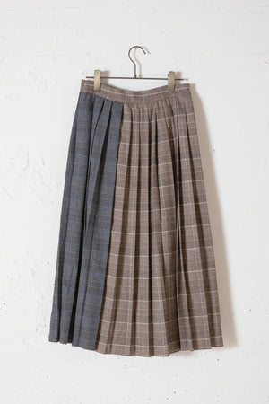 ASYMMETRY SHORTS IN SKIRT / CHECK