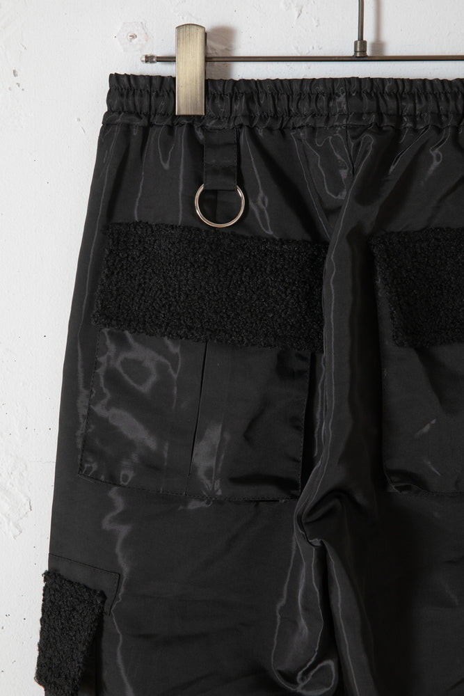 BOA POCKET NYLON PANTS / BLACK