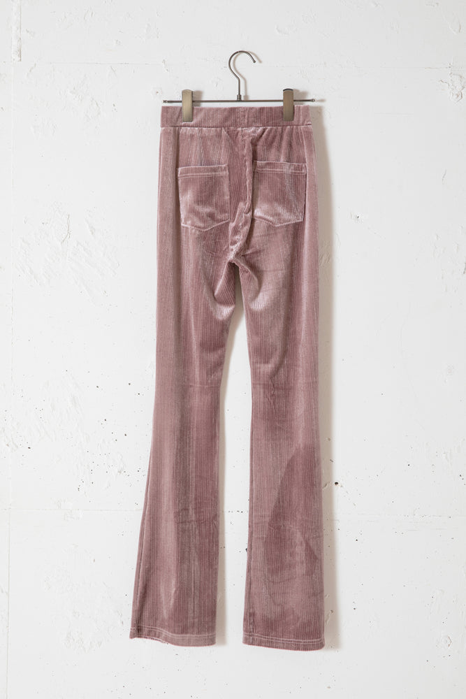 CENTER SLIT VELOUR LEGGINGS /PINK