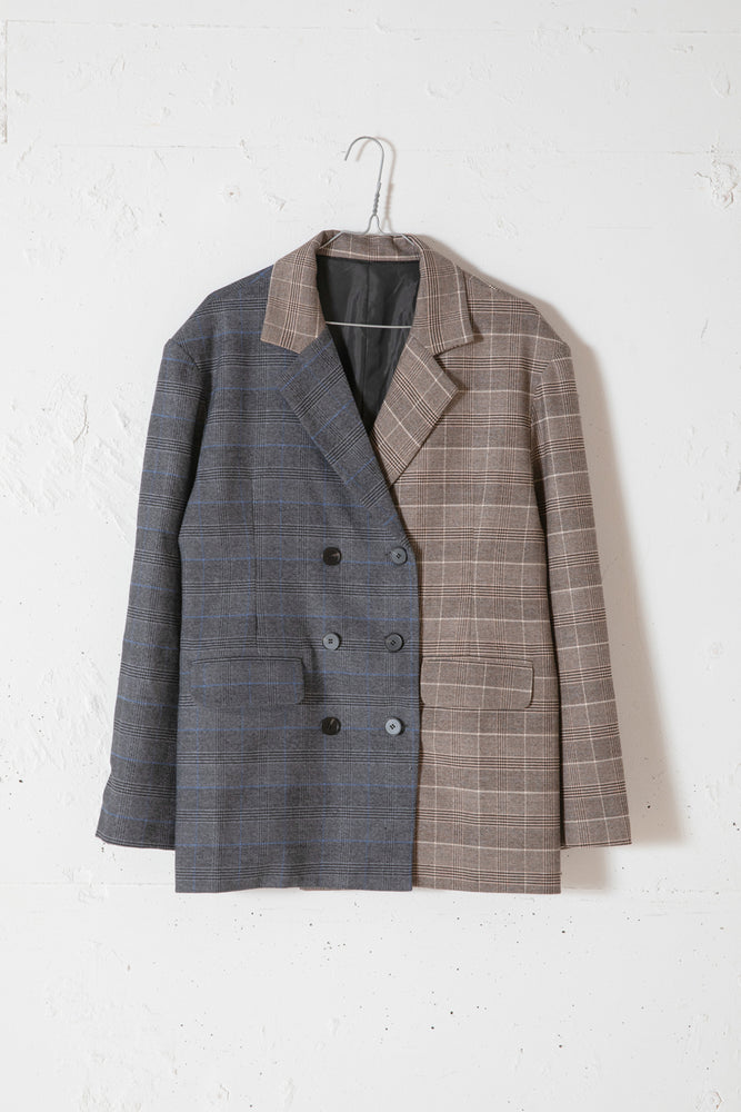 MULTI PATTERN JACKET / CHECK